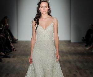 embellishment, embroidery, and wedding image