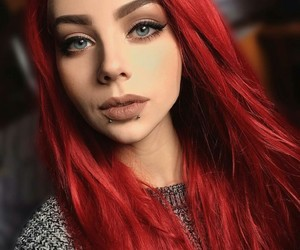 blue eyes, hairstyle, and makeup image