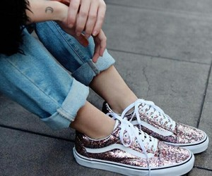 vans, pink, and fashion image