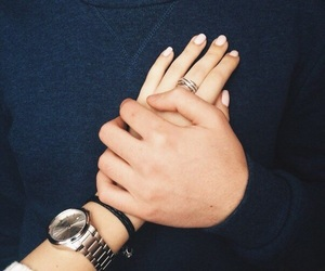 boyfriend, hand, and happy image