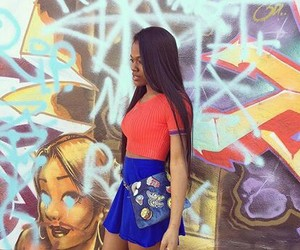 blue, hair, and style fashion image