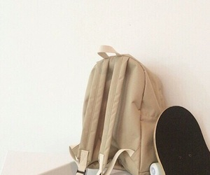 brown, aesthetic, and backpack image