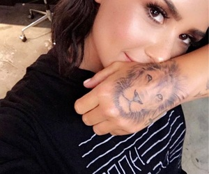 demi lovato and tattoo image