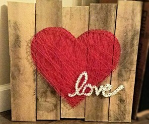 decor, heart, and string art image