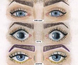 drugs, lsd, and eyes image