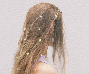 hair, stars, and grunge image