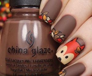nails, autumn, and art image