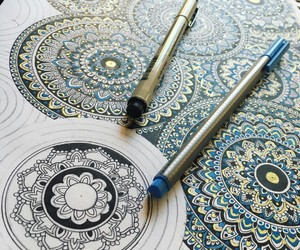 arte, blue, and gold image