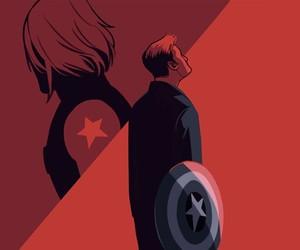 captain america, comics, and friendship image
