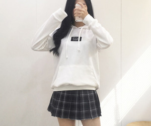 clothes, school uniform, and skirt image