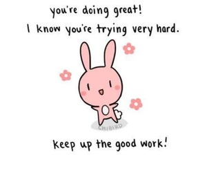 bunny, happy, and motivation image
