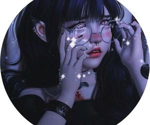 aesthetic, peircing, and anime girl image