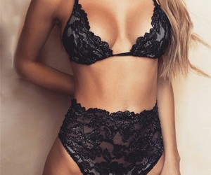 black, body, and lingerie image