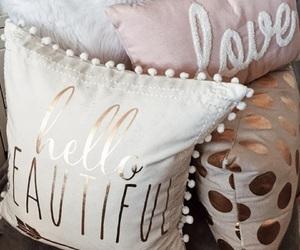 decor, girl, and pillows image