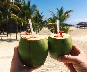 beach, food, and paradise image