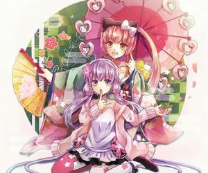 vocaloid, yuzuki yukari, and nekomura iroha image