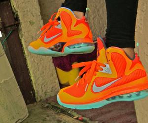 neon, nike, and orange image