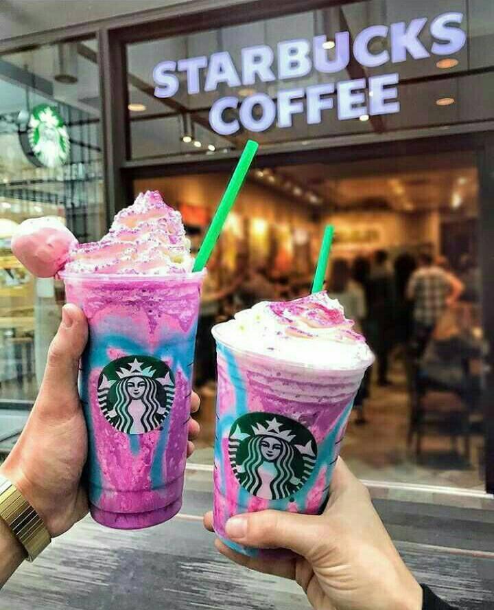 starbucks, unicorn, and coffee image