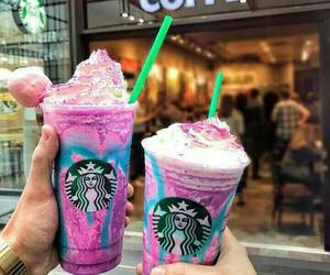 starbucks, unicorn, and coffee image