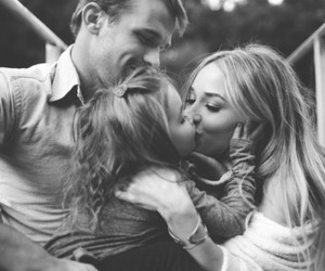 family, love, and kiss image
