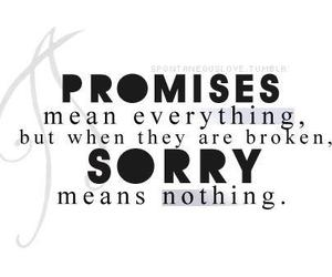 promise, sorry, and text image