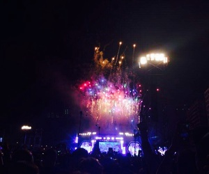 Chris Martin, colors, and fireworks image