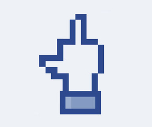 fb and finger up image
