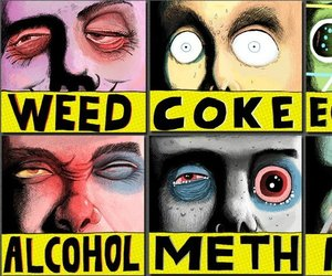 drugs, weed, and alcohol image