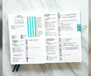 note, planner, and studyblr image