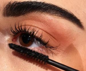 makeup, beauty, and mascara image