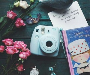 blue, book, and instax mini 8 image
