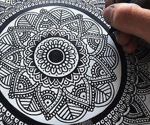 arte, mandala, and dibujo image