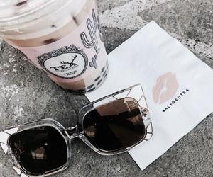 drinks, sunglasses, and tea image