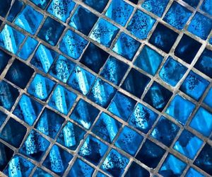 blue, aesthetic, and mosaic image