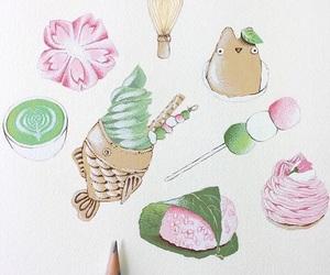 art, drawing, and food image