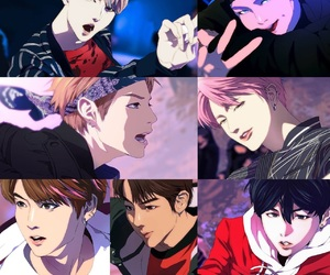 anime, rap monster, and jhope image