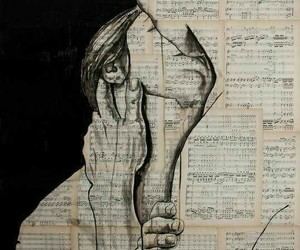 art, love, and music image
