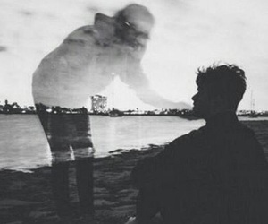 sad, boy, and couple image