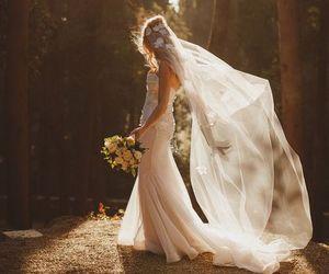 embroidery, wedding dress, and wedding image
