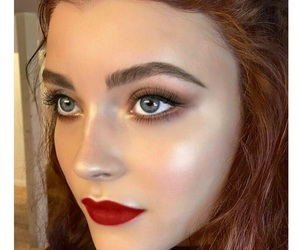 date, eyebrows, and makeup image