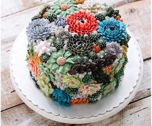 beautful, cake, and flores image