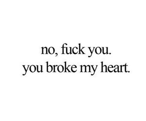broken heart, quote, and love image