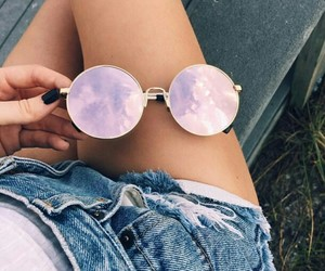 cool, sky, and glasses image