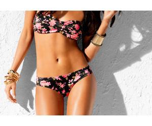 bikini, summer, and flowers image