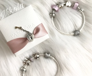 bracelet, charm, and charms image