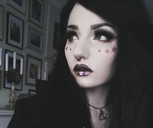 dark makeup, Darkness, and eye makeup image