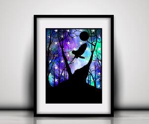 etsy, girls room owl decor, and gift idea friend art image
