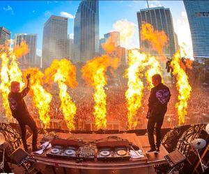 festival, fire, and Miami image