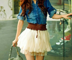 skirt and jeans image