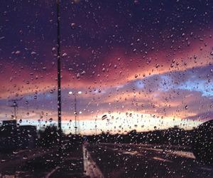 rain, city, and photography image